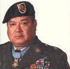 Medal of Honor Recipient MSgt. Roy Benavidez.  Read what he did! He's probably the baddest bad ass whose ever badassed!