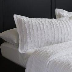 August Grove Spiritwood Lake Comforter Set | Birch Lane Queen Size Bedding, Comforter Sets, Ikea Bedroom Design, Bedroom Ideas, Ikea Living Room, Living Rooms, Ruffle Bedding, Cozy Bed, Quilt Sets