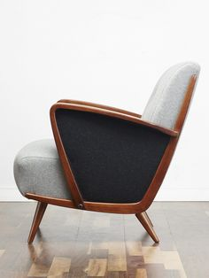 Grey cocktail chair, danish chair, 50s style #Cocktail_Chair #Vintage_Armchair #Retro_chair #50s #60s #70s #Midcentury  www.viremo.co.uk Cocktail Chair, Vintage Armchair, Accent Chairs, Danish Chair, Furniture, Style, Grey, Home Decor, Image