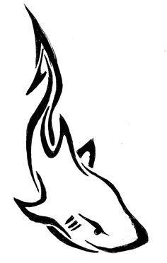 Tribal Shark Drawing by Tribal Drawings, Love Drawings, Awesome Drawings, Henna Tattoo Designs Simple, Henna Designs, Dragon Henna, Henna Kids, Cool Henna, Tribal Shark