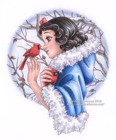 "Snow White Winter ~ Adele Lorienne S. aka ""Saimain"" Snow White Winter ~ Adele Lorienne S. aka ""Saimain"" The post Snow White Winter ~ Adele Lorienne S. aka ""Saimain"" appeared first on Paris Disneyland Pictures. Disney Pixar, Disney Kunst, Disney Nerd, Disney Films, Disney Fan Art, Disney Love, Disney Magic, Snow White 1937, Snow White Art"