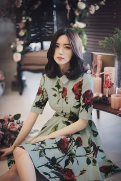 I know you want to see me but you're afraid of what i might have on my Korean Fashion Trends, Asian Fashion, Girl Fashion, Fashion Dresses, Korean Beauty, Asian Beauty, Asian Woman, Asian Girl, Mini Frock