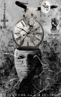 Four Dimensions of a god blessing the Egg of Lucifer before spreading it across the four corners of the earth. Four Dimensions of a god Girl Face Tattoo, Fourth Dimension, Clock Art, Clocks, Time Warp, Artist Portfolio, Eye Art, Surreal Art, Dark Art