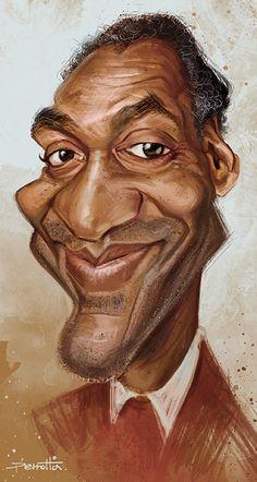 Caricatura de Bill Cosby.  ~ Ʀεƥɪииεð вƴ╭•⊰✿ © Ʀσxʌиʌ Ƭʌиʌ ✿⊱•╮