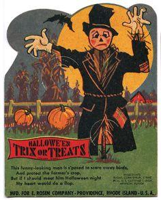 Rosen Halloween Candy Card - Scarecrow by bindlegrim