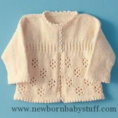 Baby Knitting Patterns Precious Girl's Knitted Sweater - Free Pattern...
