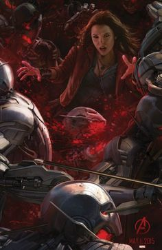Scarlet Witch concept art from Marvel's Avengers: Age of Ultron by Andy Park,