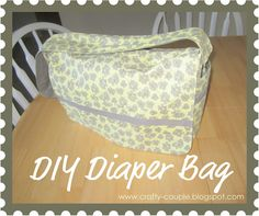 crafty couple: Diaper Bag Tutorial, make it my way without paying a fortune for what i want!