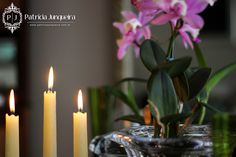 Decoracão de mesa a luz de velas em verde, rosa e branco - por Patricia Junqueira Acesse: http://www.patriciajunqueira.com.br/#!a-luz-de-velas/c86c