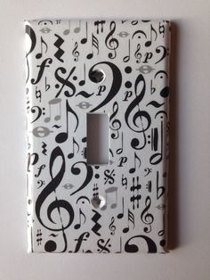 Musical Notes Single toggle Light Switch by COUTURELIGHTPLATES