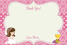 Primera comunión gracias Nota comunión por TheButterflyPress