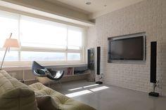 Flat Screen, Sofa, Interiors, Design, Decor, Blood Plasma, Settee, Decoration