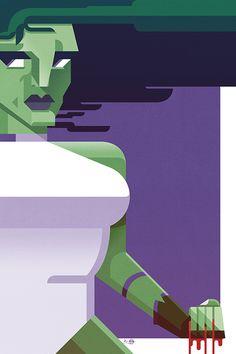 """Jennifer"" (inspired by ) by JB Roux - jibax. Alternative Movie Posters, Geek Art, Marvel Art, Hulk, Illustrations, Inspired, Movies, Inspiration, Biblical Inspiration"