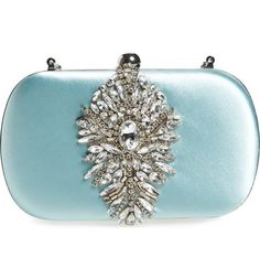 BADGLEY MISCHKA Aurora Crystal Clutch Blue Radiance $160 Pick Up or Ships Free (Compare at $200 Elsewhere) BUY HERE: http://rain-rossi.mybigcommerce.com/badgley-mischka-aurora-crystal-clutch-blue-radiance-160-pick-up-or-ships-free/