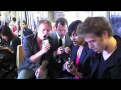 """""""Take Me Out"""" by Atomic Tom LIVE on NYC subway -- after their instruments were stolen. Watch how they improvise with their iPhones."""