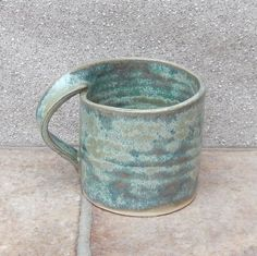 Coffee Mugs - Coffee mug tea cup in stoneware hand thrown ceramic pottery