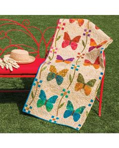 GO! Butterfly Patch Quilt Pattern by Edyta Sitar for NQC (PQ10500-NQC