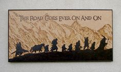 The Lord of the Ring inspired The Road Goes Ever by BluePineShop