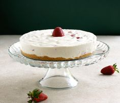 It's #NationalCheesecakeDay! Check out this super easy no bake strawberry cheesecake recipe.
