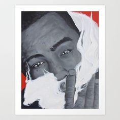 Bay Area Rap Artist The Jacka Smoking Art Print by Adam Valentino - $17.68 Bay Area, Art For Sale, Smoking, Rap, Valentino, My Arts, Art Prints, Music, Artist
