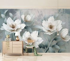 Retro flowers wallpaper removable Colorful Wall Art Retro Home Decor wall mural peel and stick Custom Design Wall paper Nursery Wallpaper, Paper Wallpaper, Self Adhesive Wallpaper, Flower Wallpaper, Photo Wallpaper, Custom Wallpaper, Suncatcher, Colorful Wall Art, Traditional Wallpaper