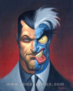 Harvey Dent - Two Face - Batman Deux Faces, Two Faces, I Am Batman, Batman Art, Two Face Batman, Batman Cartoon, Comic Villains, Dc Comics Characters, Gotham
