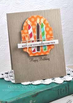 Birthday Candle Wishes Card by Dawn McVey for Papertrey Ink (July 2013)