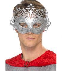 Masca argintie Columbiana. *Confectionata din plastic, se fixeaza cu sireturi. Culoare: argintie. Marime: pentru adulti.