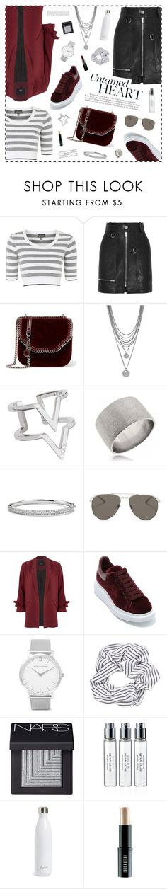"""""""UNTAMED HEART"""" by vannyroxx on Polyvore featuring Mode, Topshop, Isabel Marant, STELLA McCARTNEY, Vince Camuto, Edge of Ember, Blue Nile, Blanc & Eclare, River Island und Alexander McQueen Larsson & Jennings, Blue Nile, Isabel Marant, Vince Camuto, River Island, Stella Mccartney, Alexander Mcqueen, Topshop, Shoe Bag"""