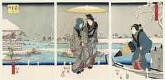 Sumida River in Snow by Hiroshige (1797 - 1858)