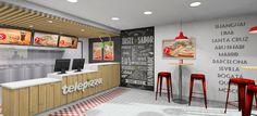 Diseño de nueva imagen Telepizza Internacional, local Delivery & Take Away