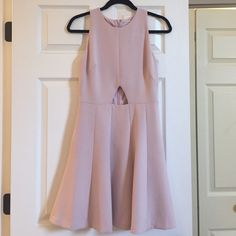 Club Monaco Cut Out Dress Club Monaco Cut Out Dress. Rose Quartz color, cut out in front (I used a piece of lace to cover my skin for a conservative wedding). Worn 1x and dry cleaned. Like-new condition. Club Monaco Dresses