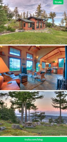This tiny home is spectacular, special, magical, and peaceful. These are the words used by sellers Laurie and Eric Johnson to describe their Eastsound, WA, property for sale, which comprises a 780-square-foot vacation cottage, a detached garage with a loft, and, perhaps most notably, a nearly 14-acre lot with some of the best views anywhere in the San Juan Islands.