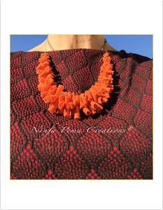 Fabric collier. #handmade by Ninfa Pema