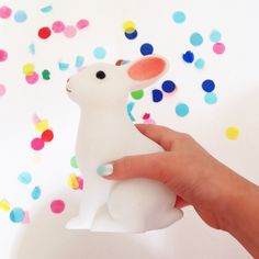 indiaKitty: This week's pocket money purchase from Six Things Shop, Burleigh Heads, nightlight bunny. #confetti