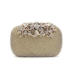 New Trending Clutch Bags: Gold Clutch Purses Classy Flower for Women Luxury Rhinestone Crystal Evening Clutch Bags Vintage Party (gold). Gold Clutch Purses Classy Flower for Women Luxury Rhinestone Crystal Evening Clutch Bags Vintage Party (gold)   Special Offer: $26.99      100 Reviews Weddinghelper Evening Bag are designed Fashion item to Show your Body beatuty. Our factory has made Luxury diamond evening bag for over 6...