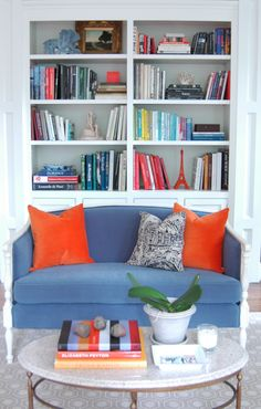 Great bookcase idea! Am not going to just line up the books by topics anymore!