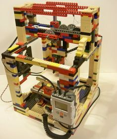3D printer made almost entirely out of Legos