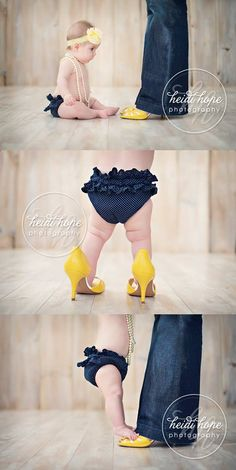 What a cute photo shoot idea for your little girl!