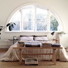 25 Of The Most Insanely Beautiful Rooms On Instagram #refinery29  http://www.refinery29.com/instagram-room-decor-inspiration#slide-1  Who needs a headboard when you have a magnificent window?...