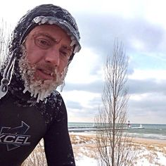 Winter storm fronts in the Midwest make for some cold, epic surfing. Photo courtesy of Great Lakes surfer Josh Ball.