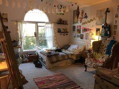 Imagem de aesthetic, beautiful, and decor Dream Rooms, Dream Bedroom, Indie Room, Indie Living Room, Room Ideas Bedroom, Bedroom Inspo, Indie Bedroom Decor, Punk Bedroom, Hippie Room Decor