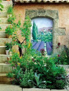 Garden Wall Art Fondly Recalls Tuscan Memories