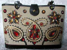 Enid Collins Vintage Bucket Handbag