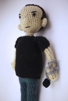 Greg Graffin of Bad Religion by Ariel Haug (www.facebook.com/Noonchi.Crafts), via Flickr #amigurumi #doll #crochet