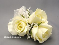 My flower color theme, with strand of pearls in Mother of the Bride corsage