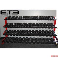 USA made Rail dumbbell rack.Your choice color frame, rails are always black. Dumbbell Set With Rack, Dumbbell Rack, Gym Design, Studio Design, Home Gym Machine, Training Equipment, Gym Equipment, Gym Workout Tips, My Gym
