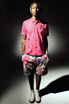 b0a0b1ca015356 Pharrell Williams Models Billionaire Boys Club and A Bathing Ape Spring  2013 Collections