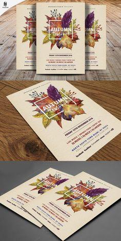 Autumn Festival Flyer Template. Flyer Templates. $8.00