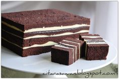 Recipes today - Kek Lapis Kukus Keju Brownies Layer Cake Recipes, Brownie Recipes, Layer Cakes, Brownie Bowls, Bolu Cake, Brownies Kukus, Resep Cake, Steamed Cake, Chocolate Cheese